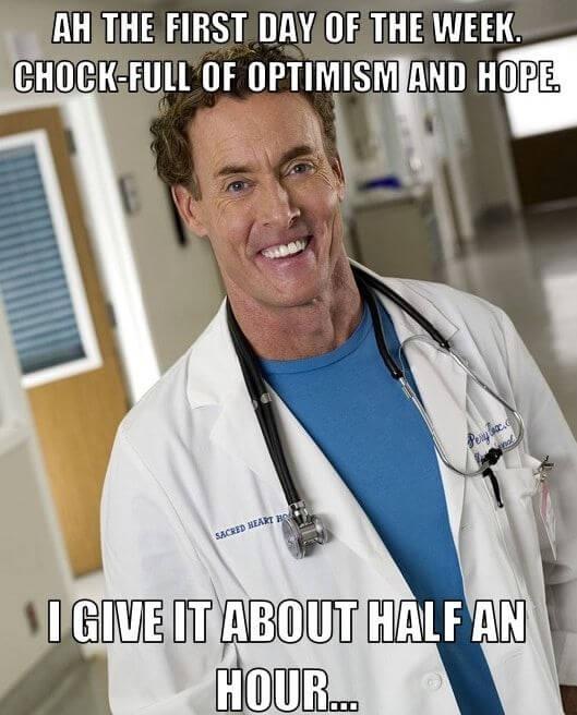 Dr. Cox sarcasm